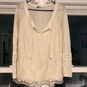 Cream Sequin Sweater